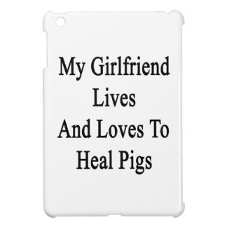 My Girlfriend Lives And Loves To Heal Pigs Cover For The iPad Mini