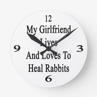 My Girlfriend Lives And Loves To Heal Rabbits Clock