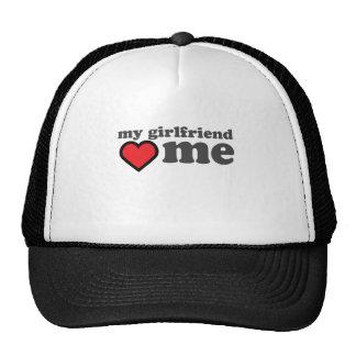My Girlfriend Loves Me Valentines Day Trucker Hats