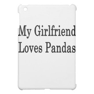 My Girlfriend Loves Pandas iPad Mini Cover