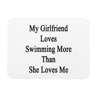 My Girlfriend Loves Swimming More Than She Loves M Rectangular Magnets