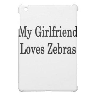 My Girlfriend Loves Zebras iPad Mini Cover