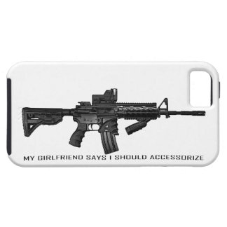 My Girlfriend Says I Should Accessorize AR15 iPhone 5 Covers