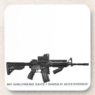 My Girlfriend Says I Should Accessorize AR15 Coasters