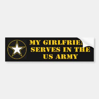 My Girlfriend Serves In The Army Bumper Sticker