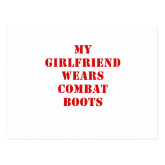 My Girlfriend Wears Combat Boots Post Cards