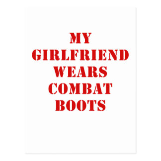 My Girlfriend Wears Combat Boots Postcard
