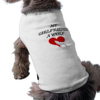 My Girlfriends a wolf Sleeveless Dog Shirt