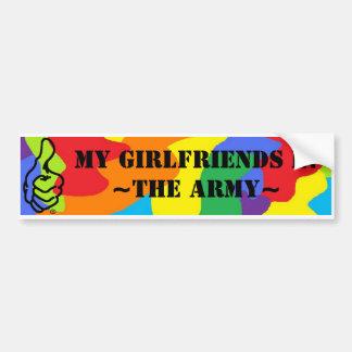 My Girlfriends In The Army! Bumper Sticker