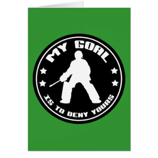 My Goal, Field Hockey (black) Greeting Card