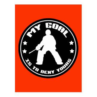 My Goal Field Hockey black Post Cards