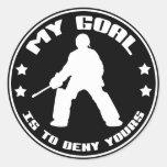 My Goal, Field Hockey (black) Round Stickers