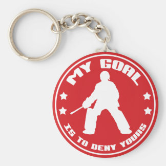 My Goal, Field Hockey Goalie Basic Round Button Key Ring