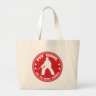 My Goal, Field Hockey Goalie Large Tote Bag