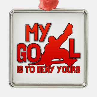 My Goal, Hockey Goalie Christmas Ornament