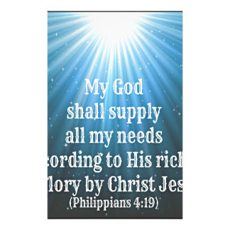 my God shall supply all my needs.jpg Stationery Paper