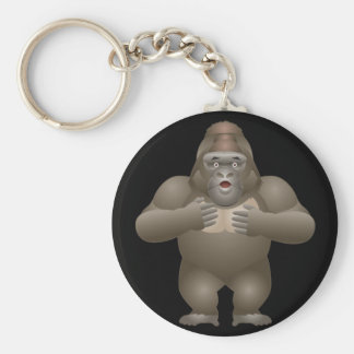 My Gorilla Basic Round Button Key Ring