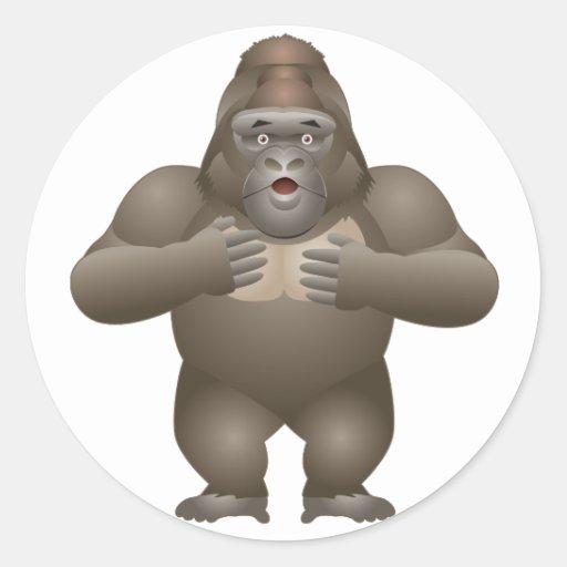 My Gorilla Classic Round Sticker