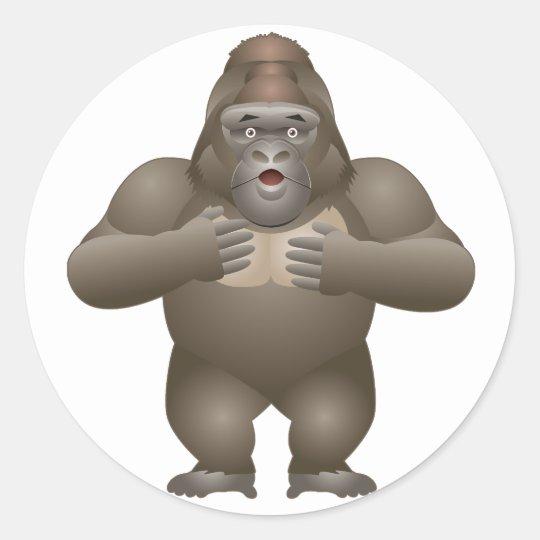 My Gorilla Round Sticker