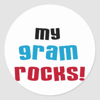 My Gram Rocks T-shirts and Gifts Stickers