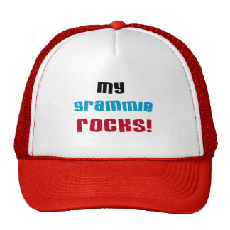 My Grammie Rocks T shirts and Gifts Mesh Hats
