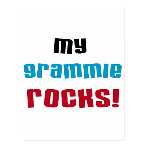 My Grammie Rocks T shirts and Gifts Post Card