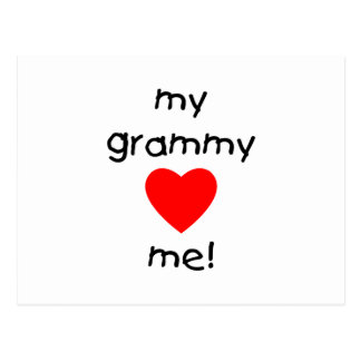 my grammy loves me postcard