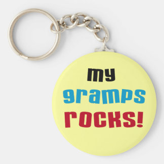 My Gramps Rocks T-shirts and Gifts Basic Round Button Key Ring