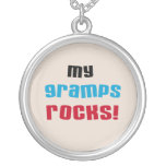 My Gramps Rocks T-shirts and Gifts Personalized Necklace