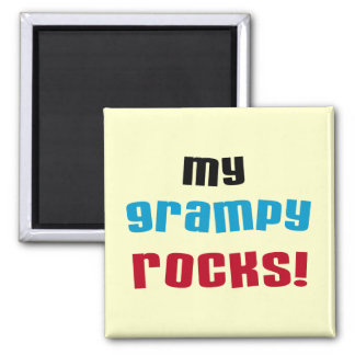 My Grampy Rocks T shirts and Gifts Square Magnet