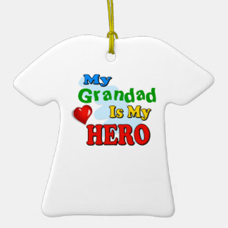 My Grandad Is My Hero – Insert your own name Christmas Ornaments
