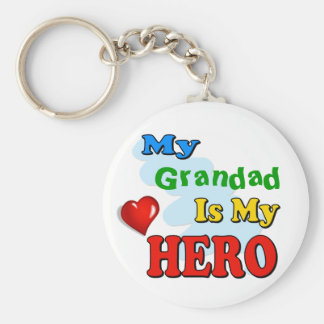 My Grandad Is My Hero – Insert your own name Basic Round Button Key Ring