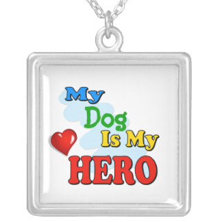 My Grandad Is My Hero – Insert your own name Square Pendant Necklace
