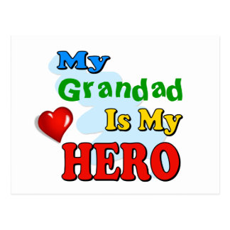 My Grandad Is My Hero – Insert your own name Postcard