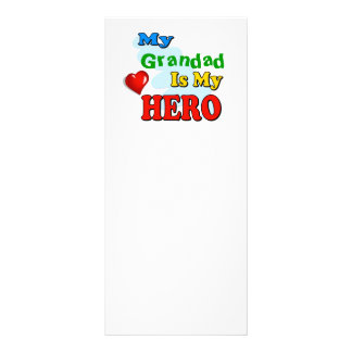 My Grandad Is My Hero – Insert your own name Rack Card Template