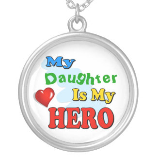 My Grandad Is My Hero – Insert your own name Round Pendant Necklace