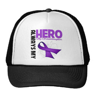 My Granddaughter Always My Hero - Purple Ribbon Trucker Hat