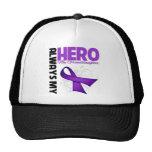 My Granddaughter Always My Hero - Purple Ribbon Trucker Hat