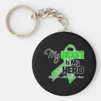 My Granddaughter is My Hero - Kidney Cancer Basic Round Button Key Ring