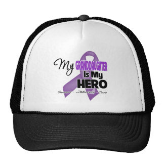 My Granddaughter is My Hero - Purple Ribbon Mesh Hats