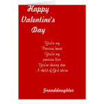 My granddaughter on valentine's day greeting cards