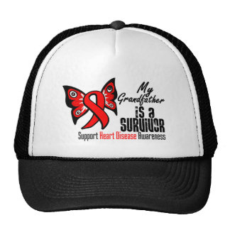My Grandfather is a Survivor - Heart Disease Mesh Hats