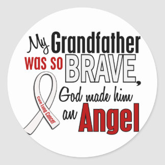 My Grandfather Is An Angel Lung Cancer Round Sticker