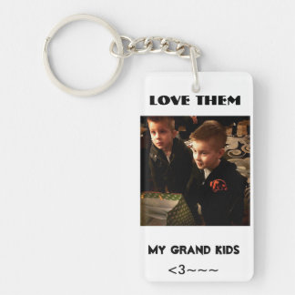 my grandkids Double-Sided rectangular acrylic key ring