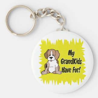 My Grandkids Have Fur - 1 Basic Round Button Key Ring