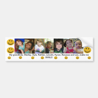My Grandkids make me Smile Bumper Sticker