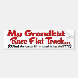 My grandkids race Flat track Car Bumper Sticker