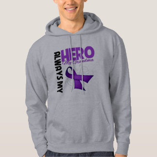 My Grandma Always My Hero - Purple Ribbon Hoodie
