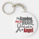 My Grandma Is An Angel 1 Brain Cancer Basic Round Button Key Ring
