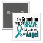 My Grandma Is An Angel 1 Ovarian Cancer 15 Cm Square Badge